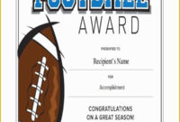 Soccer Award Certificate Templates Free Of 43 Sample intended for Soccer Award Certificate Template