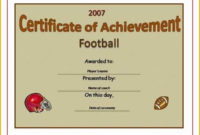 Soccer Award Certificate Templates Free Of 5 Best Of Free intended for Soccer Award Certificate Templates Free