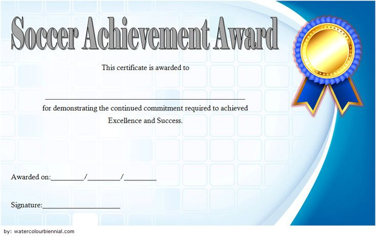 Soccer Certificate Of Achievement Free Printable 7 In 2020 throughout Swimming Achievement Certificate Free Printable