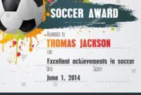 Soccer Certificate Template  Atlantaauctionco For Soccer inside Printable Soccer Mvp Certificate Template