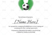 Soccer Completion Certificate Template 999 Formats with regard to Awesome Soccer Certificate Templates For Word
