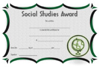 Social Studies Certificate Template 4 intended for Best Free 6 Printable Science Certificate Templates