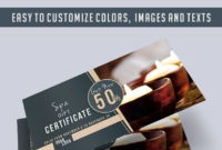 Spa  Free Gift Certificate Psd Template Elegantflyer with regard to Spa Gift Certificate