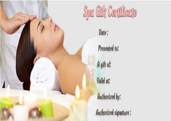 Spa Gift Certificate Template  27 Word Psd Templates regarding Quality Free Spa Gift Certificate Templates For Word
