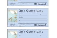 Spa Gift Voucher With Cash Value  Templates At Inside throughout Golf Certificate Templates For Word