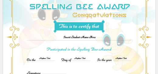 Spelling Bee Certificates  Professional Certificate Templates with Spelling Bee Award Certificate Template