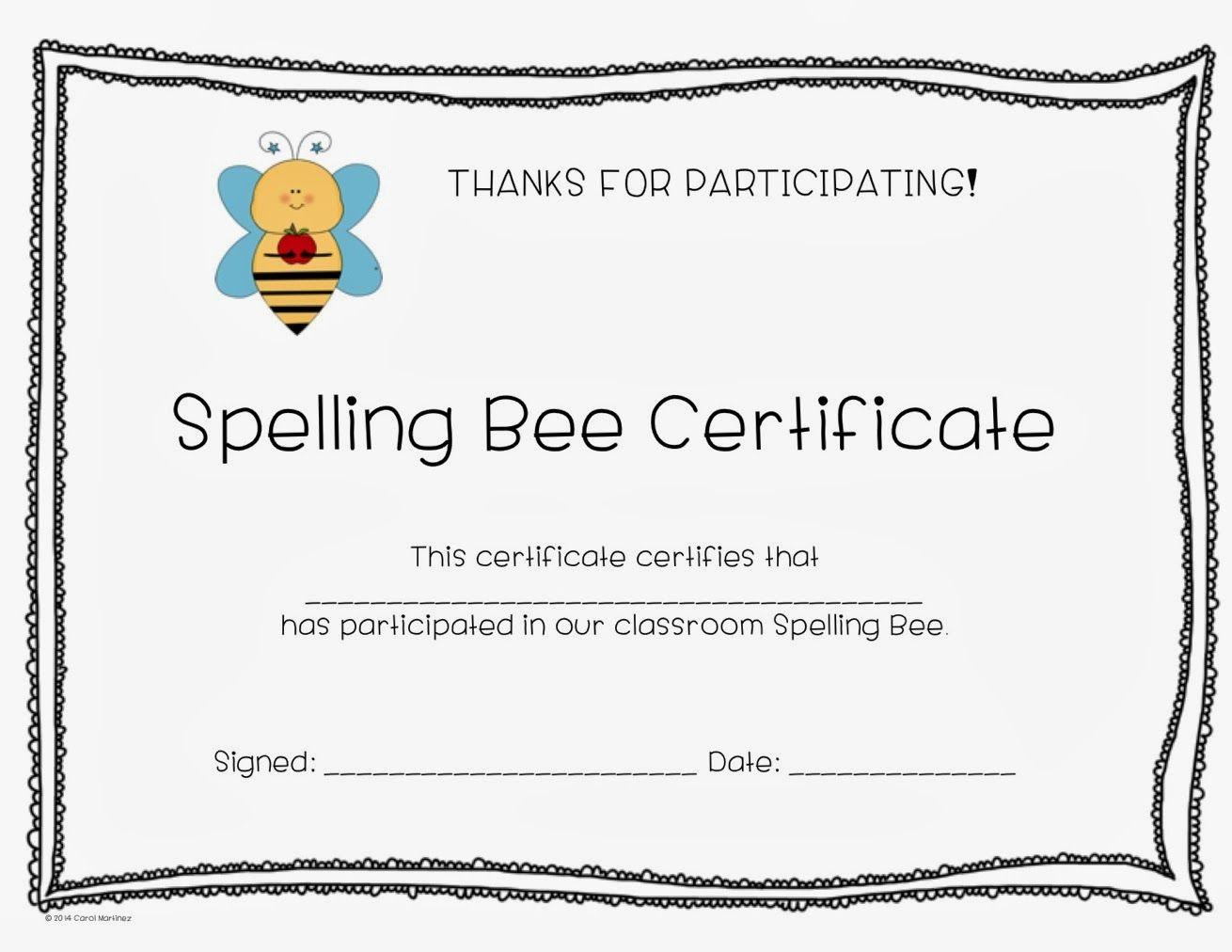 Spelling Contest Award Template  Invitation Templates for Writing Competition Certificate Templates