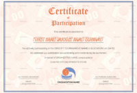 Sports Award Certificate Template Word Awesome Certificate regarding Athletic Award Certificate Template