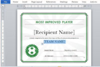 Sports Award Certificate Templates For Word  Bgitu with regard to Sports Award Certificate Template Word