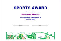 Sports Award Certificate Templates For Word  Matah pertaining to Athletic Award Certificate Template
