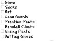 Sports Bag Checklists Free Printable  Softball Bags pertaining to Volleyball Tournament Certificate 8 Epic Template Ideas