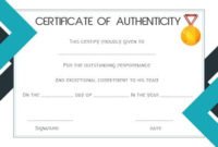 Sports Certificate Of Authenticity Template  Certificate with regard to Amazing Sports Day Certificate Templates