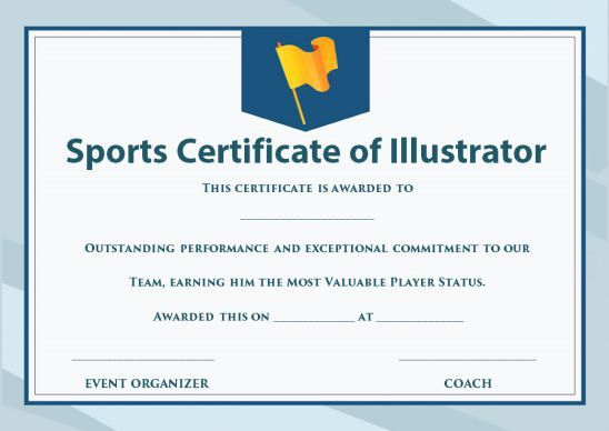 Sports Certificate Template Illustrator  Certificate with regard to Best Sports Day Certificate Templates Free