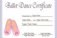 Sports Certificates  Award Template For Ballet Ballet with regard to Amazing Dance Award Certificate Templates