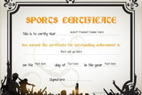 Sports Certificates  Certificate Templates Certificate inside Quality Free Softball Certificates Printable 10 Designs