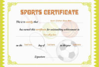Sports Certificates With Images  Certificate Templates regarding Tennis Achievement Certificate Templates
