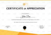 Sportsmanship Appreciation Certificate Design Template In for Sports Day Certificate Templates