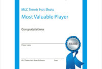 Sportsmanship Certificate Template  4 Free Word Pdf for Printable Player Of The Day Certificate Template Free