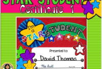 Star Certificate 1  Star Students Certificate intended for Quality Star Student Certificate Template