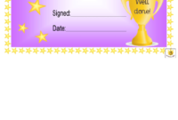Star Of The Week Award Certificate Template  Purple intended for Best Student Of The Week Certificate Templates