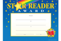 Star Reader Goldfoil Stamped Certificates  Positive within Reader Award Certificate Templates