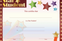 Star Student Certificate  Free Printable Download In Free for Star Certificate Templates Free