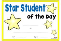 Star Student Certificates  Eyfs Ks1 Ks2 in Best Physical Education Certificate 8 Template Designs