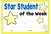 Star Student Certificates  Eyfs Ks1 Ks2 regarding Star Award Certificate Template