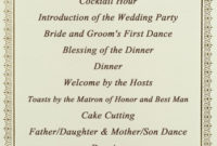 Stationery Checklist For A Wedding  Wedessence with Amazing Wedding Ceremony Agenda Template