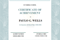 Student Achievement Certificate  Free Student Achievement in Awesome Academic Achievement Certificate Templates