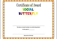 Student Award Certificate Template  Sample Templates with regard to Student Of The Year Award Certificate Templates