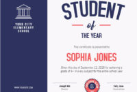 Student Certificate Of Achievement Custom Template within Free Academic Achievement Certificate Template