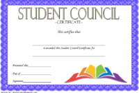 Student Council Certificate Template 8 New Designs Free pertaining to Student Leadership Certificate Template Ideas