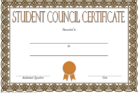 Student Council Certificate Template 8 New Designs Free within Student Leadership Certificate Template Ideas
