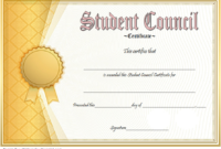 Student Council Certificate Template  8 Professional Ideas throughout Awesome Chess Tournament Certificate Template Free 8 Ideas