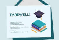 Student Farewell Card Template In 2020  Card Template with Best Farewell Certificate Template