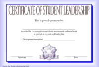 Student Leadership Certificate Template 10 Designs Free regarding Best Coach Certificate Template Free 9 Designs