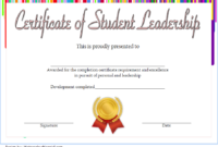 Student Leadership Certificate Template 10 Designs Free throughout Printable Best Coach Certificate Template Free 9 Designs