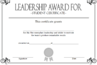 Student Leadership Certificate Template 10 Free with Free Employee Certificate Template Free 10 Best Designs