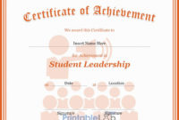Student Leadership Certificate Template In Your Pink pertaining to Quality Student Leadership Certificate Template Ideas