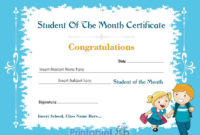Student Of The Month Certificate Design In Downy Malibu pertaining to Free Printable Student Of The Month Certificate Templates