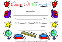 Student Of The Month School Award Template Download regarding Free Printable Student Of The Month Certificate Templates