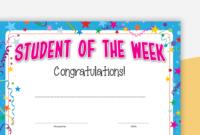 Student Of The Week Certificate inside Best Student Of The Week Certificate Templates
