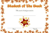 Student Of The Week Certificate Top 10 Super Star Designs with Quality Star Student Certificate Template