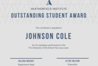 Student Of The Year Award Certificate Templates for Amazing Student Of The Year Award Certificate Templates