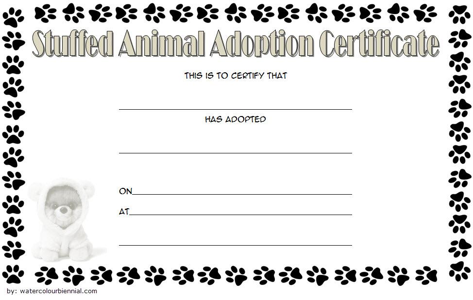 Stuffed Animal Adoption Certificate Template Free 2020 in Awesome Unicorn Adoption Certificate Templates