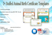 Stuffed Animal Birth Certificate Templates 7 Adorable intended for Amazing Cat Birth Certificate Free Printable