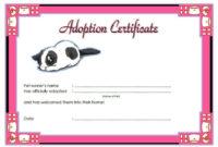 Stuffed Cat Adoption Certificate Free Printable 1St Idea inside Free Toy Adoption Certificate Template