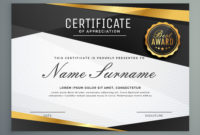Stylish Certificate Of Appreciation Award Template In intended for Amazing In Appreciation Certificate Templates