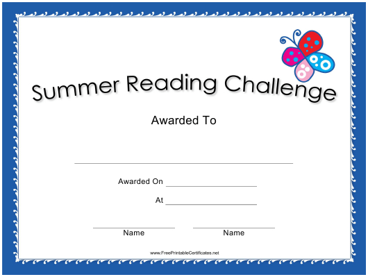 Summer Reading Challenge Certificate Template Download throughout Accelerated Reader Certificate Templates